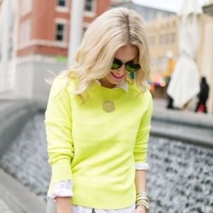 J. Crew Holly Sweater in Neon Canary